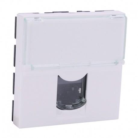 Legrand Mosaic - Prise RJ45 - Catégorie 5e - FTP - 2 modules - LCS - blanc - Réf : 076555