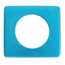 Legrand - Plaque Céliane - Métal - 1 poste - Blue Snake - Réf : 068771