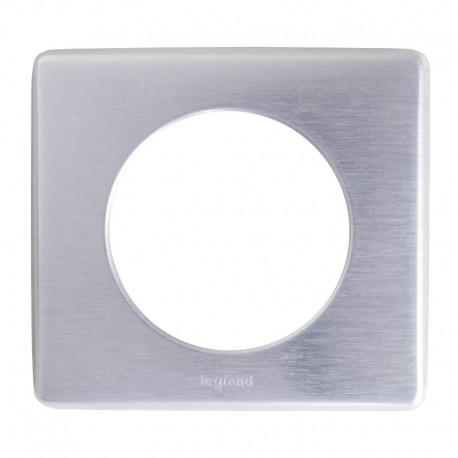 Legrand - Plaque Céliane - Métal - 1 poste - Aluminium - Réf : 068921