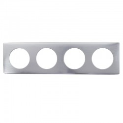 Legrand - Plaque Céliane - Métal - 4 postes - Aluminium - Réf : 068924