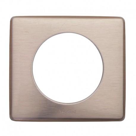 Legrand - Plaque Céliane - Métal - 1 poste - Copper - Réf : 068991
