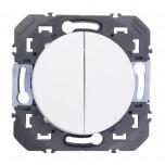 Legrand - Poussoir double dooxie 6A 250V~ finition blanc - Réf : 600008