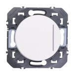 Legrand - Interrupteur ou va-et-vient avec voyant lumineux dooxie 10AX 250V~ finition blanc - Réf : 600011
