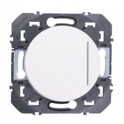 Legrand - Poussoir simple avec voyant lumineux dooxie 6A 250V~ finition blanc - Réf : 600016