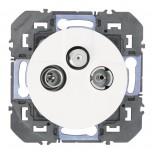Legrand - Prise TV-R-SAT 1 câble dooxie finition blanc - Réf : 600353