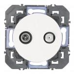 Legrand - Prise TV-SAT étoile blindée dooxie finition blanc - Réf : 600356