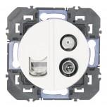 Legrand - Prise TV-SAT + RJ45 cat6 STP compacte dooxie finition blanc - Réf : 600358