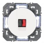 Legrand - Prise haut-parleur simple dooxie finition blanc - Réf : 600381