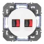Legrand - Prise haut-parleur double dooxie finition blanc - Réf : 600382
