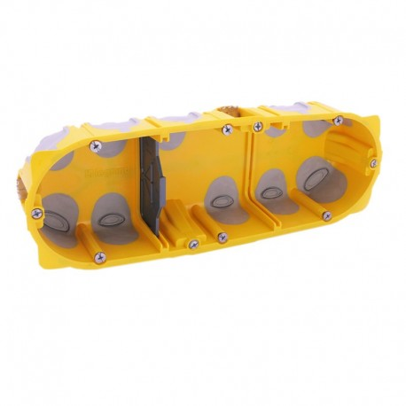 Legrand - Boîte multipostes Prog. Ecobatibox - 3 postes - 6/8 modules - prof. 40 mm - Réf : 080023