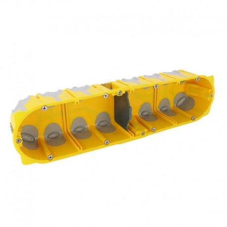 Legrand - Boîte multipostes Prog. Ecobatibox - 4 postes - 8/10 modules - prof. 50 mm - Réf : 080034