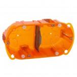 Legrand - Boîte multimatériaux Batibox - 2 postes - 4/5 mod - vert/horiz - prof. 40 - Réf : 080102