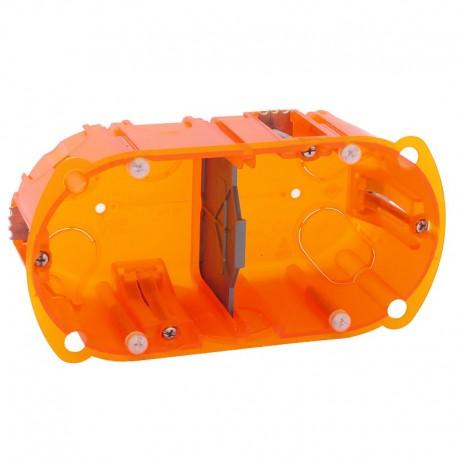 Legrand - Boite d'encastrement Multi-matériaux Batibox Prof 50 mm - 2 postes - Réf : 080122