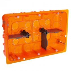 Legrand - Boîte multimatériaux Batibox - grand format - 2x3 postes / 2x6/8 mod - prof 50 - Réf : 080126