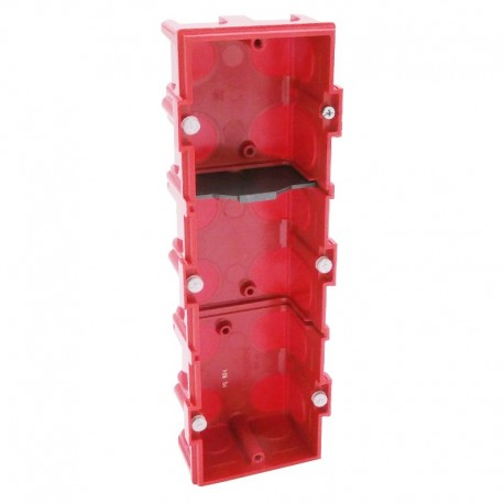 Legrand - Boîte multiposte Batibox - maçonnerie - 3 postes 6/8 mod - vert/horiz -prof. 40 - Réf : 080143