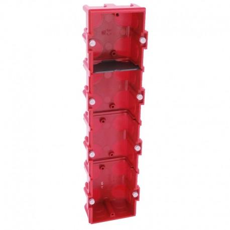 Legrand - Boîte multiposte Batibox - maçonnerie - 4 postes 8/10 mod - vert/horiz -prof. 40 - Réf : 080144