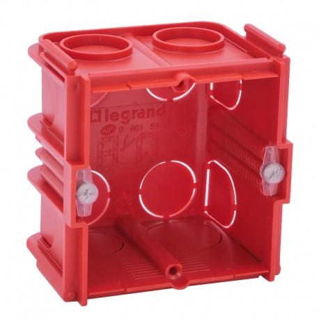 Legrand - Boîte monoposte Batibox - maçonnerie - carrée associable - prof. 50 - Réf : 080151