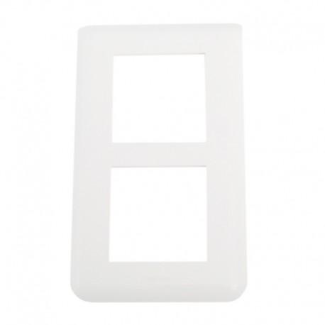Legrand Mosaic - Plaque spéciale rénovation - 2x2 modules vertical - Réf : 078854