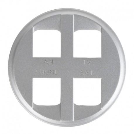 Legrand Céliane - Enjoliveur - Prise Quadruple pour Réseau Optimum Auto - Titane - Réf : 068494