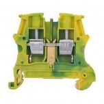 Legrand - Bloc jonction Viking 3 à vis - 1 jonction - 1entrée/1 sortie - vert/jaune - pas 8 - Réf: 037172