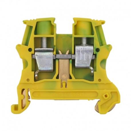 Legrand - Bloc jonction Viking 3 à vis - 1 jonction - 1entrée/1 sortie - vert/jaune - pas 10 - Réf: 037173
