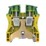 Legrand - Bloc jonction Viking 3 à vis - 1 jonction - 1entrée/1 sortie - vert/jaune - pas 12 - Réf: 037174