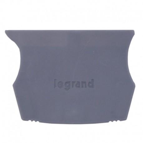 Legrand - Cloison terminale pr bloc jonction Viking 3 à vis - 1 entr/1 sort - pas 5,6,8,10 - Réf: 037550