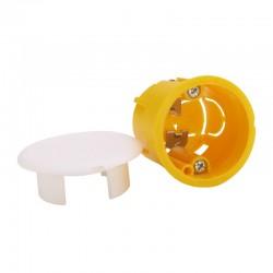 Legrand - Boîte luminaire Batibox - cloison sèche - couvercle de finition - pour applique - Réf : 089346