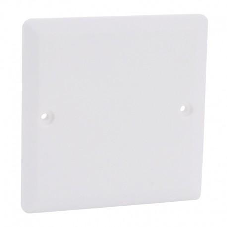 Legrand - Couvercle universel carré Batibox 80x80mm pour boîte 1 poste - Réf : 089281