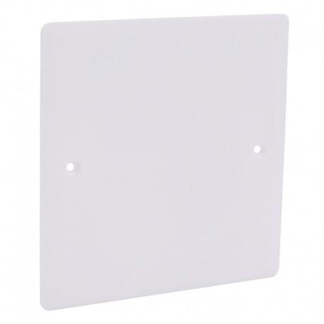 Legrand - Couvercle universel carré Batibox 100x100mm pour boîte Ø85mm - Réf : 089285