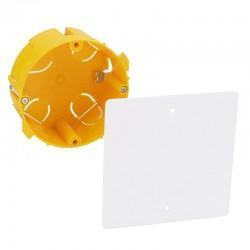 Legrand - Boîte pour dérivation Batibox cloisons sèches Ø85x40mm couvercle 100x100mm - Réf : 089371