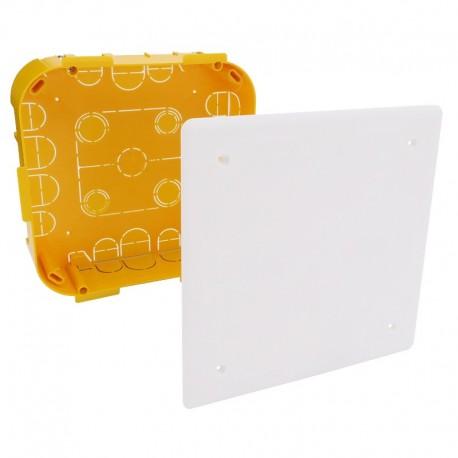 Legrand - Boîte pour dérivation Batibox cloisons sèches 170x170x50mm couvercle 195x195mm - Réf : 089374