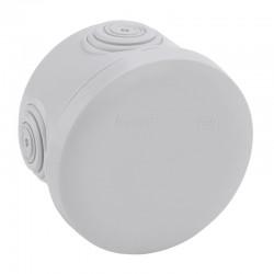 Legrand Plexo - Boîte de dérivation ronde Plexo Ø70mm hauteur 45mm - gris RAL7035 - Réf : 092002