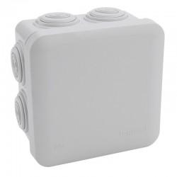 Legrand Plexo - Bte carrée 80x80x45 étanche gris - embout (7) -IP55/IK07- 650°C - Réf : 092012