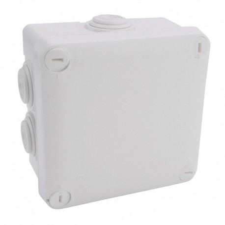 Legrand Plexo - Bte carrée 105x105x55 étanche gris - embout (7) -IP55/IK07- 650°C - Réf : 092022