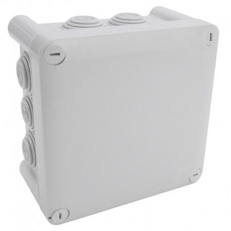 Legrand Plexo - Bte carrée 130x130x74 étanche gris - embout (10) - IP55/IK07 - 650°C - Réf : 092032