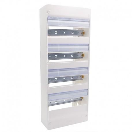 Legrand - Coffret DRIVIA 13 modules - 4 rangées - IP30 - IK05 - Blanc RAL 9003 - Réf : 401214