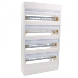 Legrand - Coffret DRIVIA 18 modules - 4 rangées - IP30 - IK05 - Blanc RAL 9003 - Réf : 401224