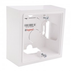 Legrand - Cadre saillie 1 poste dooxie finition blanc - Réf : 600041