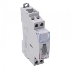 Legrand - Télérupteur standard à vis 230 V~- 2P - 250 V~ - 16 A - 2F - 1 module - Réf : 412412