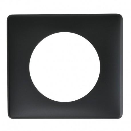 Legrand - Plaque Céliane - Poudré - 1 poste - Basalte - Réf : 066741
