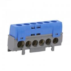 Legrand - Bornier de répartition IP 2X - neutre - 1 connexion 10 à 35 mm² - bleu - L 62 mm - Réf : 004815