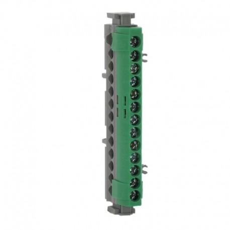 Legrand - Bornier de répartition IP 2X - terre - 1 connexion 6 à 25 mm² - vert - L 113 mm - Réf : 004834