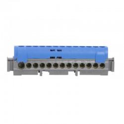 Legrand - Bornier de répartition IP 2X - neutre - 1 connexion 6 à 25 mm² - bleu - L 113 mm - Réf : 04844