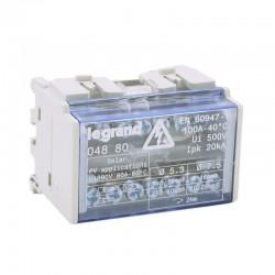 Legrand - Répartiteur modulaire monobloc bipolaire à bornes 100A - 7 connexions par barreau - 4 modules - Réf 004880