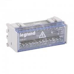 Legrand - Répartiteur modulaire monobloc bipolaire à bornes 40A - 13 connexions maximum par barreau - 6 modules - Réf : 004881