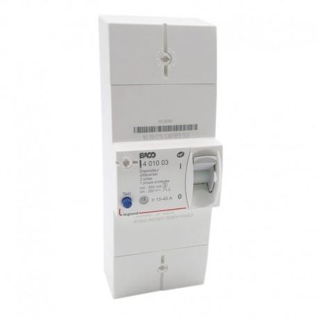 Legrand - Disjoncteur Enedis - différentiel 500 mA sélectif - 2P - 45 A - Réf : 401003