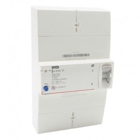 Legrand - Disjoncteur Enedis - différentiel 500 mA instantané - 4P - 60 A - Réf : 401011