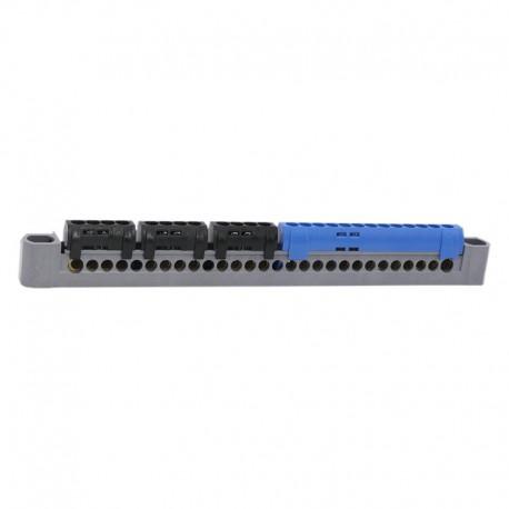 Legrand - Bornier de répartition IP 2X - terre - 3P+N - 1 connex 4à25mm² - vert - L 227 mm - Réf : 404814