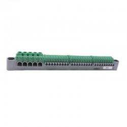 Legrand - Bornier de répartition IP 2X terre 5 connexions 6 À 25 mm² vert L227 mm - Réf: 405055